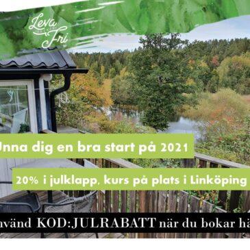 20% rabatt på kurs på plats i Linköping